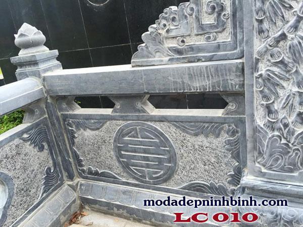 Mẫu thiết kế lan can đá bao quanh