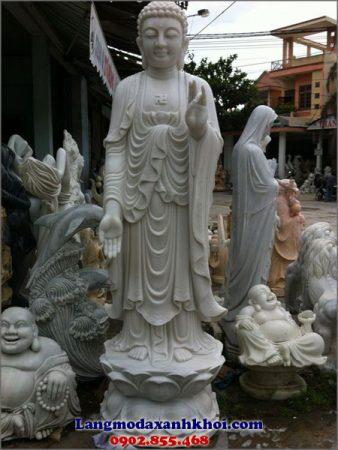 Tượng Phật A Di Đà đá MX 01