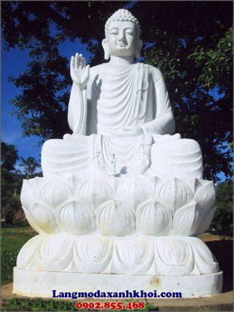 Tượng Phật A Di Đà đá MX 03