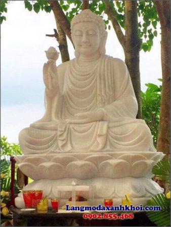 Tượng Phật A Di Đà đá MX 06